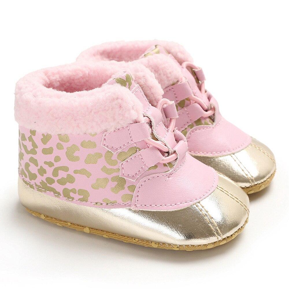 Newborn Baby Boy Girl Anti Slip Shoes Toddler Warm Fluffy First Walker Shoes