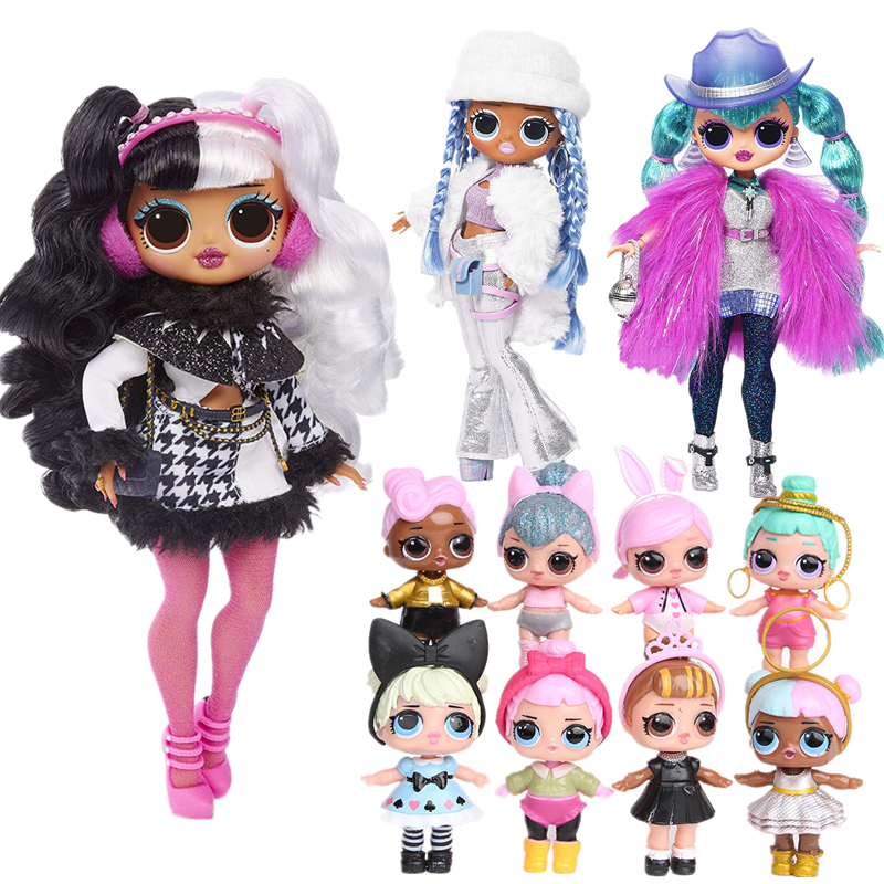 L.O.L Surprise! OMG Winter Disco Dollie LOL Doll Decoration Model Fashion Doll & Sister