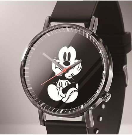 Reloj Mujer New Luxury Brands Mickey Quartz Women Watches Fashion Black Leather Cartoon Cute Student Kids Watches Zegarek Damski