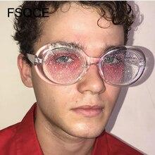 Sunglasses Women Oval Sun Glasses Glitter Lenses Eyewear Candy Colorful Classic