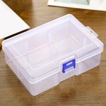 Вместительная коробка для хранения прозрачная пластиковая косметики