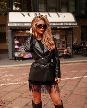 SPREEZE 2021 nowych kobiet Solid Color dopasowany kołnierz fałszywa kieszeń Fashion Casual damski płaszcz skórzany tanie tanio V-neck Na wiosnę jesień REGULAR Pełne CN (pochodzenie) Futro Brak Skóra i zamszowe Dla osób w wieku 16-28 lat Faux leather