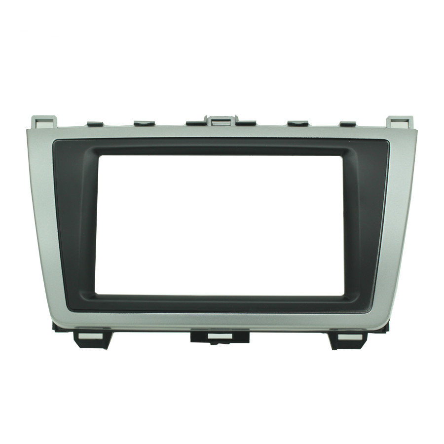 08-011 Double 2 Din Car <font><b>Radio</b></font> Frame <font><b>dash</b></font> <font><b>kit</b></font> Panel Adapter for <font><b>MAZDA</b></font> <font><b>6</b></font> Atenza 2008-2012 Car <font><b>Radio</b></font> DVD Installation Trim Fascia image