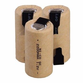 2-20 sztuk 1.2v 2200mah SC akumulator Sub C ni-cd akumulatory SC Nicd Batteria do wkrętaki elektryczne wiertarki elektronarzędzia