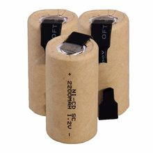 2-20 baterias da broca do sc dos pces chave de fenda elétrica 1.2v 2200mah sub c ni-cd bateria recarregável com pilha da ferramenta elétrica nicd subc da guia