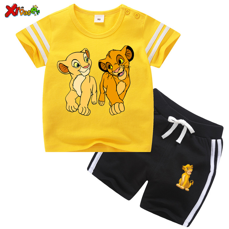 Toddler Boys Clothing Set Kids Summer Baby Clothes Sets For Girls 2Pcs Casual Sport Outfit Children Clothes Suit  Cartoon 2020