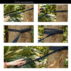 Image 5 - 2Pcs 300cm Hammock strap Outdoor camping Hammock Swing Straps rope high strength load bearing strap hammock rope