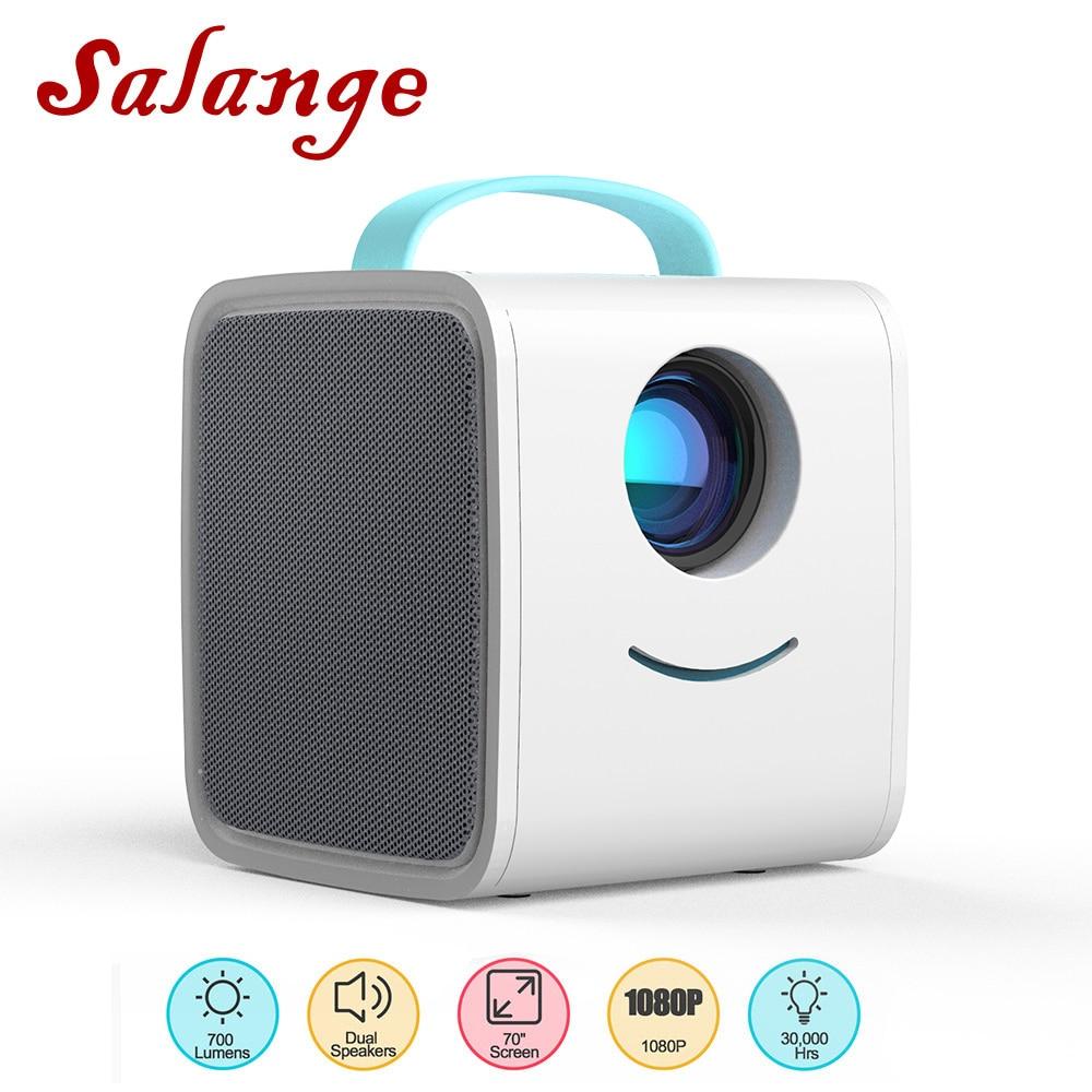 Salange q2 mini projetor led, 700 lumens pico projetor hdmi porta av usb portátil crianças projetor história para o presente de natal-0