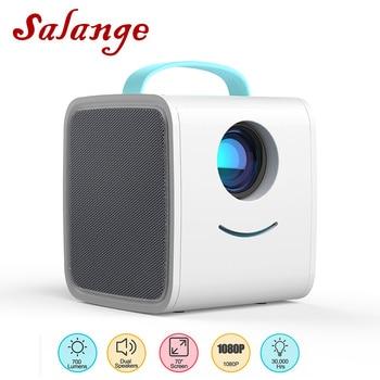 Salange q2 mini projetor led, 700 lumens pico projetor hdmi porta av usb portátil crianças projetor história para o presente de natal