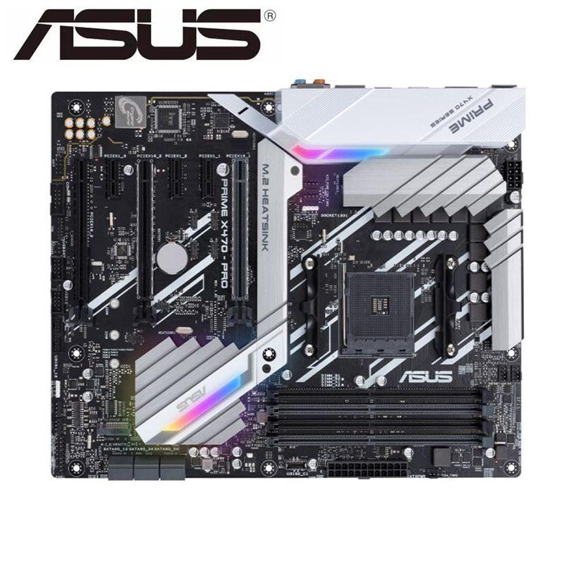 ASUS PRIME X470-PRO Original Motherboard For AMD Socket AM4 DDR4 64G USB3.1 HDMI M.2 X470 USED Desktop Motherboard
