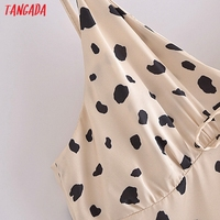 Tangada Women's Party Dress Leopard Midi Dress Strap Adjust Sleeveless 2021 Korean Fashion Lady Elegant Dresses QN40 3