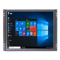 ZHIXIANDA Factory Higt Quality Desktop 1280*1024P Wall Mount 17 Inch Industrial Open Frame LED Touch Monitor