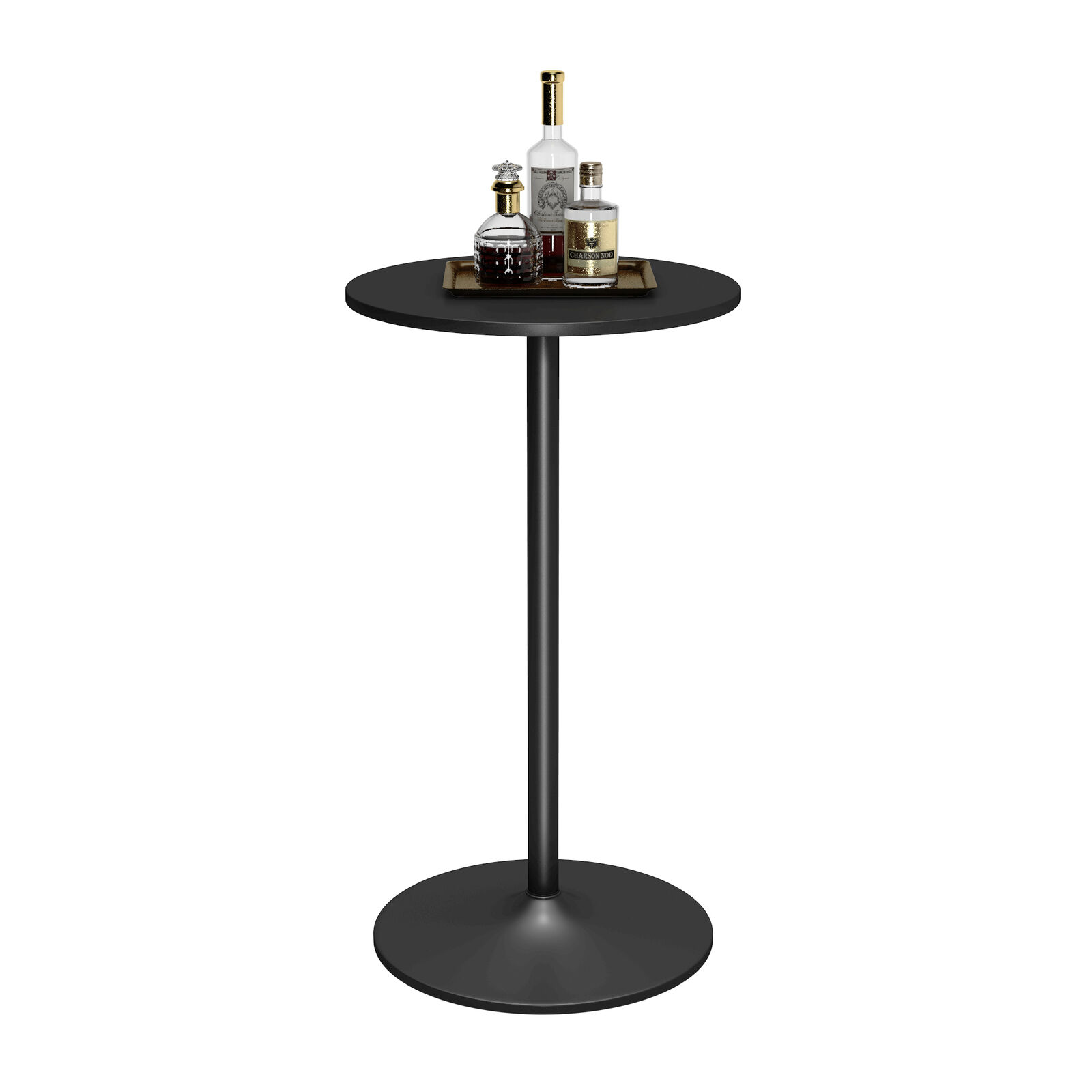 Costway 24'' Dia Round Bar Table Bistro Pub Counter Home Outdoor Indoor Kitchen Furniture