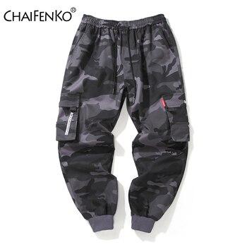 CHAIFENKO Brand Mens Joggers Pants Camouflage Cargo Men Hip Hop Skateboard Jogger Fashion Casual Beam Feet Pant M-8XL - discount item  58% OFF Pants