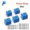 5pcs Relays SRD-05VDC-SL-C SRD-12VDC-SL-C SRD-24VDC-SL-C 5 Pin DC 3V 5V 6V 9V 12V 24V 48V 10A 250VAC 5PIN Power Relays