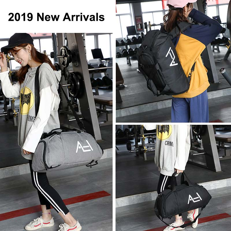 Купить с кэшбэком Women Gym Bags Sac De Sport For Fitness Training Men Sporttas Sports Backpack Travel Bag Yoga Luggage Mochila Shoulder Tas