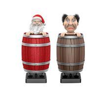 Автоматическая сигаретная коробка с Санта-Клаусом, украшение, деревянная бочка, сигаретная карманная коробка, Рождественское украшение@ C