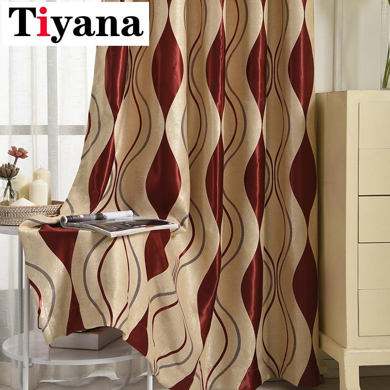 Quality Elegant Europe Striped Geometric Curtain For Door Living Room Bedroom Kitchen Window Curtain Drape Panel P390X