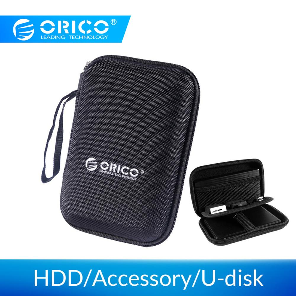 ORICO 2.5 HDD Inch Hard Drive Bag Proctect Mini Size Laptop USB Case External Hard Disk Pouch Bag for WD Seagate/Samsung SSD Box(China)