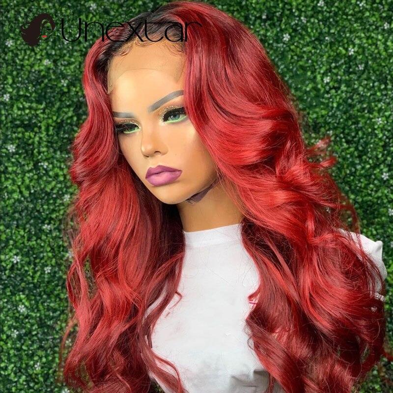 cabelo humano do laço vermelho ombre com