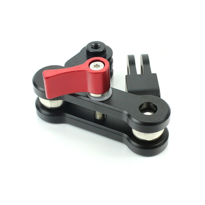 Image 3 - Mocowanie ramienia magicznego ze stopu aluminium podwójne złącze obrotowe z głowicą obrotową 360 obrót dla kamera sportowa Gopro dla Osmo Action