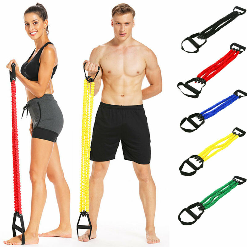 Fitness Latex Elastic Resistance Pilates Equipment Band Yoga Gym Rope Pull Tube