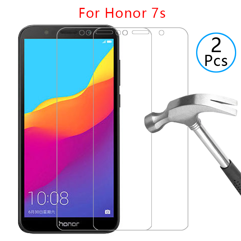 case on honor 7s cover tempered glass screen protector coque for huawei honor7s honer onor 7 s s7 5.45 protective phone original(China)