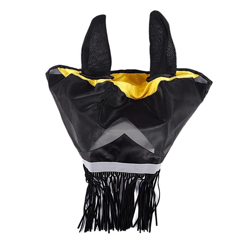 Светоотражающая маска для лошади с крышкой для ушей, анфас ArmouredMesh, товары для домашних животных, анти-УФ, дышащая, анти-москитная маска