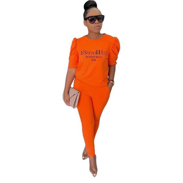 Фото модный эластичный повседневный костюм однотонный женский спортивный цена