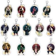 Anime Demon Slayer Nezuko Tanjirou Hashiras Rengoku Kyoujurou Zenitsu Inosuke Mitsuri Tengen Sanemi Acrylic figure keychain
