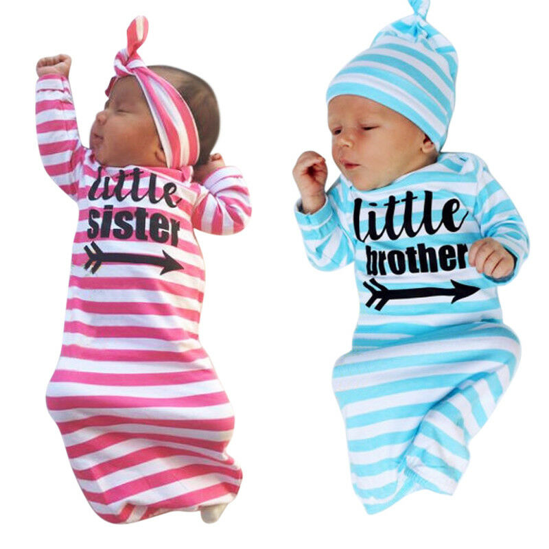 Soft Newborn Baby  Swaddle Wrap Blanket Little Sister Infant  Striped Swaddle Sleeping Bag For 0-24 Months Baby Clothing
