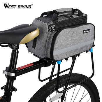 WEST BIKING Bike Bag Cycling Pannier Storage Luggage Carrier Basket Mountain Road Bicycle Saddle Handbag Rear Rack Trunk Bags new multifunctional roswheel mountain bike saddle basket bicycle rear rack bag becicle bicycle pack trunk pannier bycicle bag