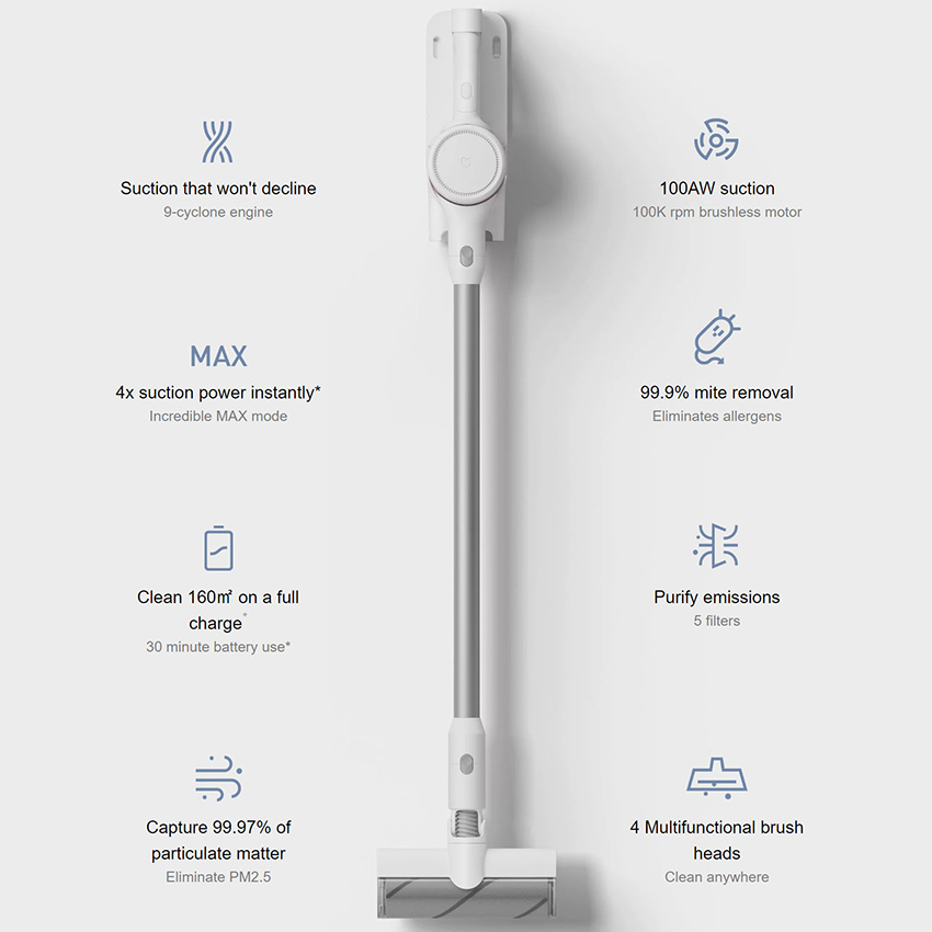 ÊBest DealXiaomi Vacuum-Cleaner 9-Cyclone Handheld Global-Version Powerful Long Ce 100-Aw-Suction-30m