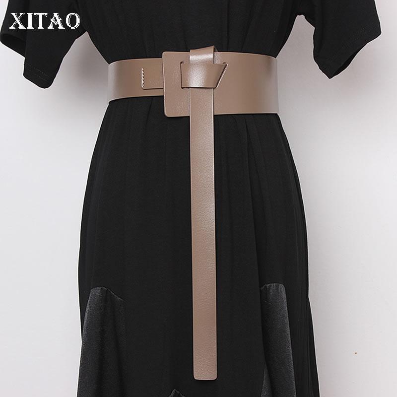 XITAO Girdle Outside Decoration Wild Women Wide Waist Belts Fashion Corset Belt Streetwear Cummerbunds Trend 2020 New GCC3096
