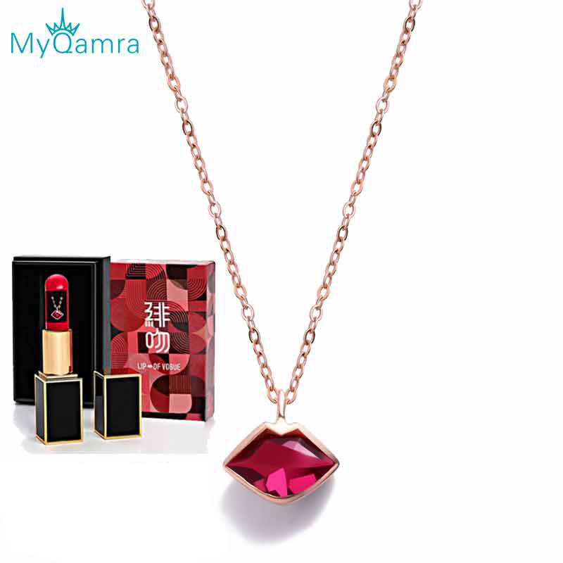 Genuine 18K Rose Gold Chain Necklace Kiss Modeling Au750 Pendant Wendding Party Gift For Women