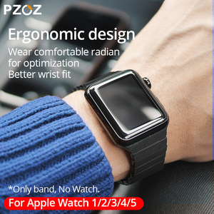 Image 3 - PZOZ Leather strap Replacement Sport Band For Apple Watch Series 1 2 3 4 5 42mm 44mm Wrist Bracelet Leather Strap 38mm 40mm