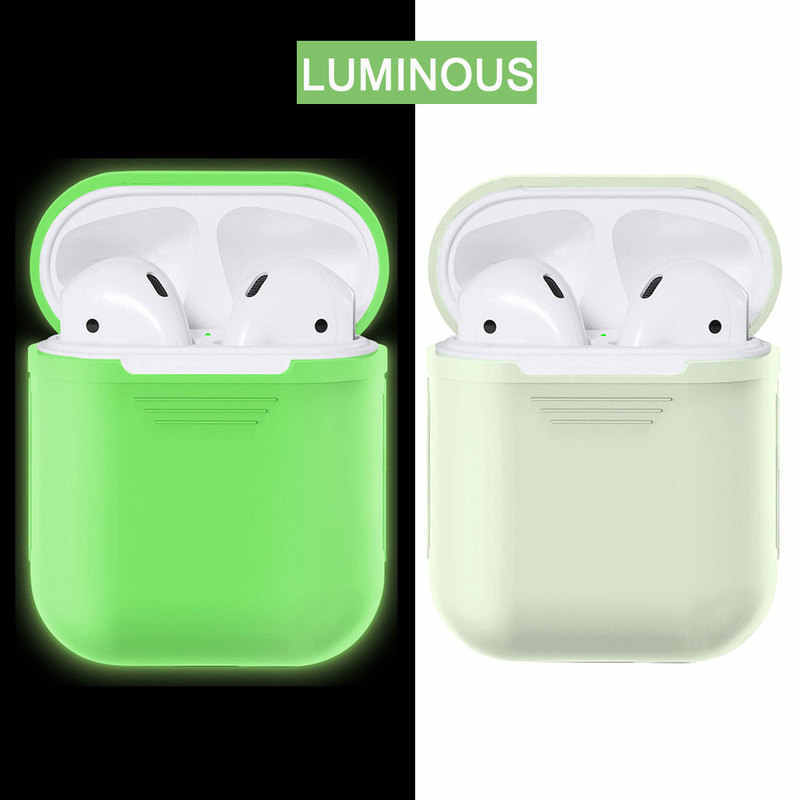 Silicone Cover Skin for Apple AirPods Earphone Charger Soft Case Bags for IPhone Air Pods Headphone Cable Protector Holder Box