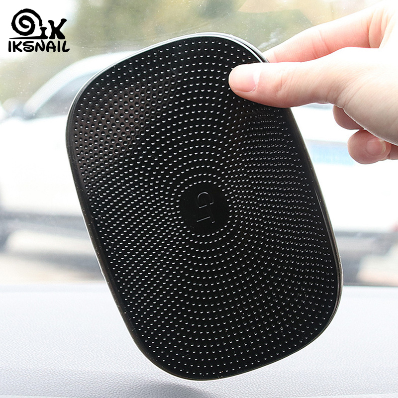 IKSNAIL Car Anti Slip Pad Silica Gel Sticky Pad Dashboard Mobile Phone Stand Non-slip Mat Soft Silicone Car Interior Accessories