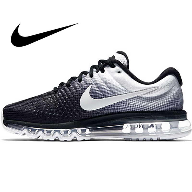 Original Nike AIR MAX 2017 Men's Running Shoes Sport Outdoor Mesh Breathable Sneakers Athletic Designer Footwear 849559-010
