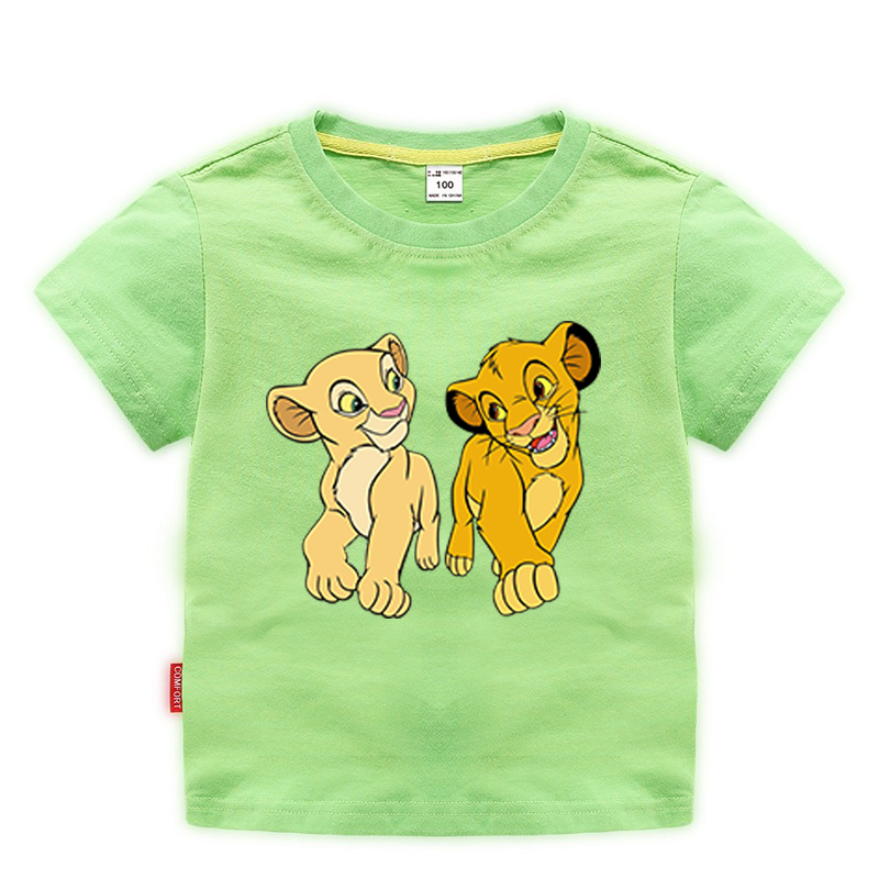 11 Color Fashion Summer 2020 Baby Boys Girls Lion King T shirts Cotton Kids Tops Print Children Clothes Short Sleeve T-shirts