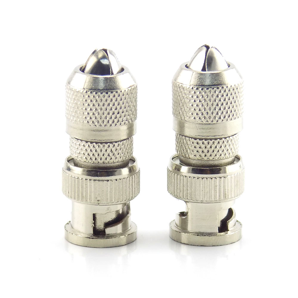 1Pc BNC Connector Male Adapter Coax Cable  For CCTV Camera Security System Surveillance System BNC Connector Adapter H10