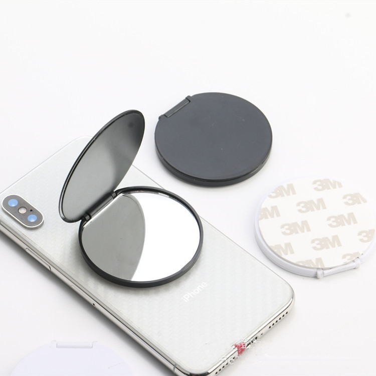 10-100pcs Round Blank Mirrors Mobile Phone Folding Stretch Bracket Phone Holder