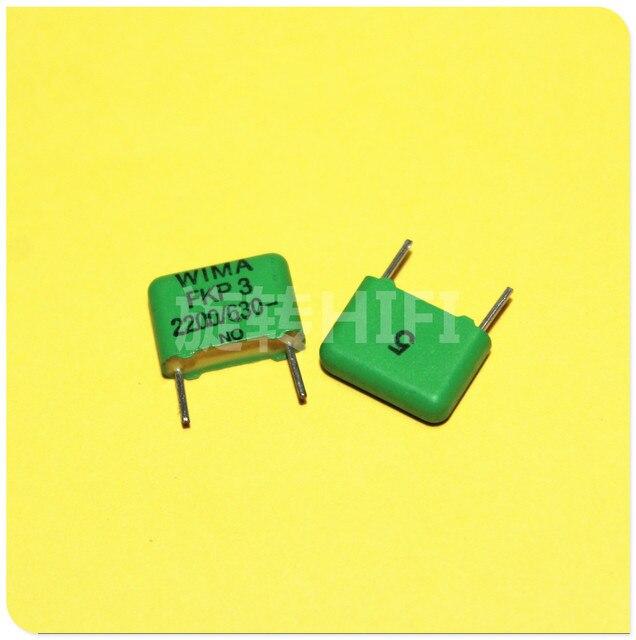 10PCS NEUE grüne WIMA FKP3 2.2NF 630v 2200PF 222/630V PCM10 Audio heißer verkauf FKP 3 2200 p/630 V P10MM 222 2N2