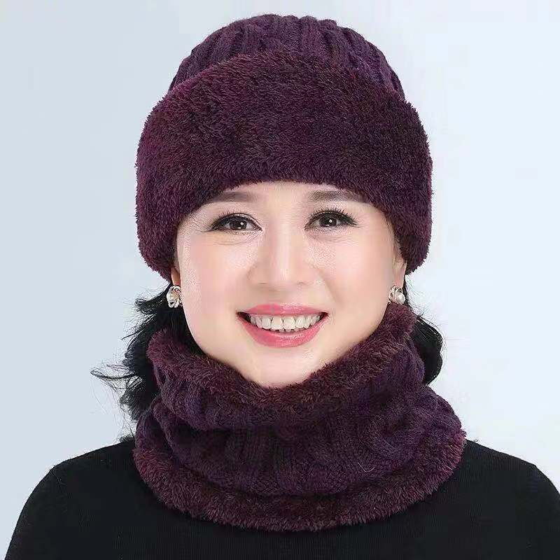Winter Balaclava Women's Stripes Knitted Hat Caps Mask Gorras Warmer Winter Hats For Mom Skullies Warm Wool Beanies Mom Cap