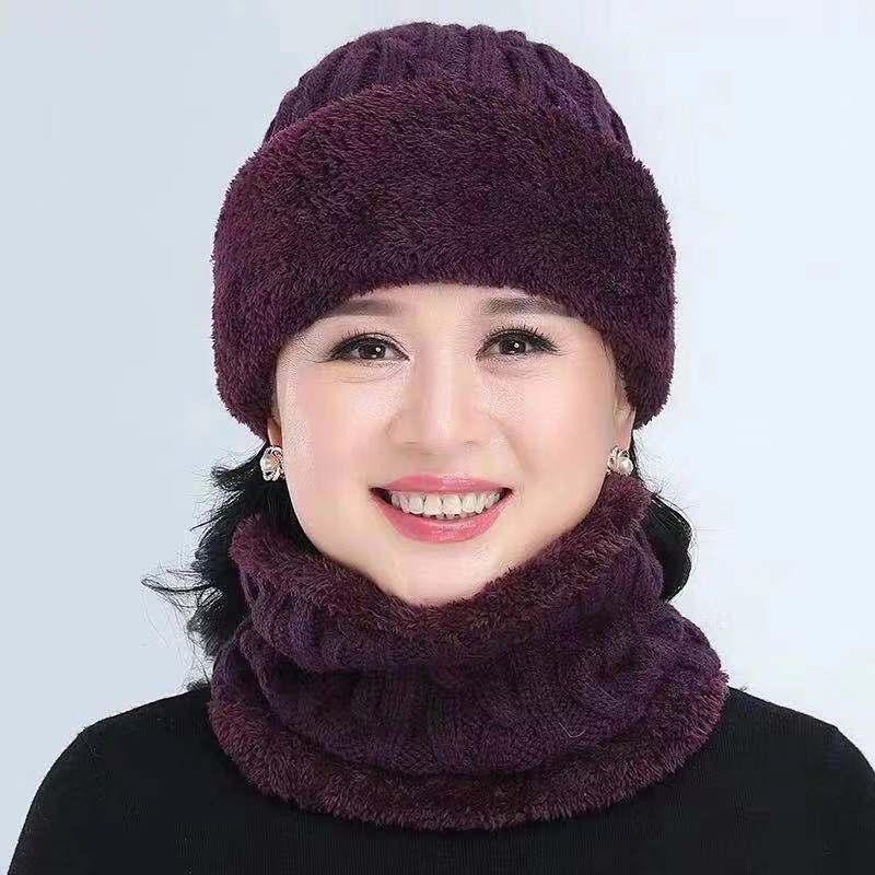Winter Balaclava Women's Stripes Knitted Hat Caps Mask Gorras Warmer Winter Hats For mom   Skullies   Warm Wool   Beanies   Mom Cap