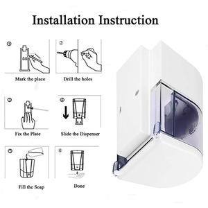 Image 4 - 600ml ติดผนังเซ็นเซอร์ IR อัตโนมัติสบู่ TOUCH แบตเตอรี่ Powered สบู่โลชั่นปั๊มห้องครัวห้องน้ำ