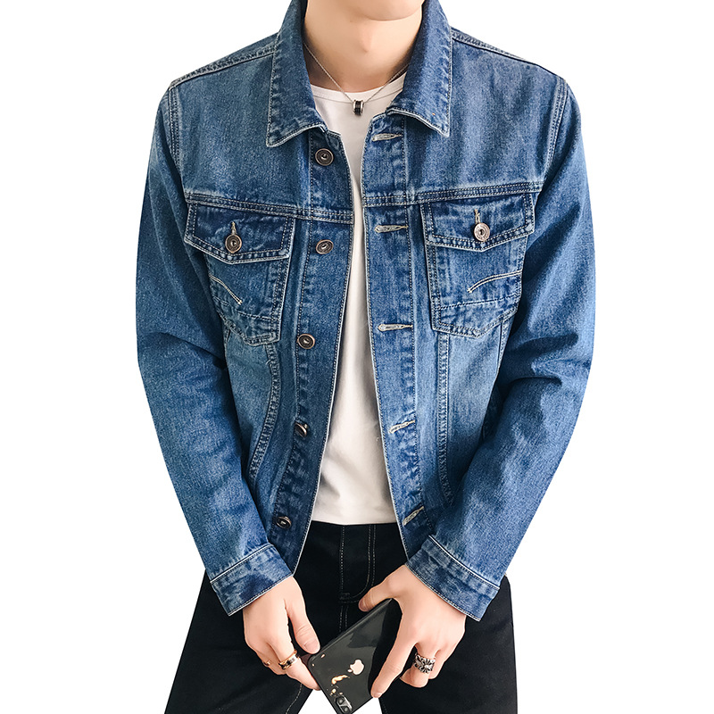 2020 Spring Autumn Denim Jackets Mens New Trendy Fashion Denim Outwear Hip Hop Retro Jeans Coats Male Cowboy Slim Bomber Jacket