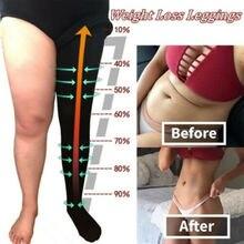 Колготки, компрессионные чулки, тонкие колготки для сжигания жира, для похудения, утягивающие чулки для похудения, инструмент для ухода за ногами