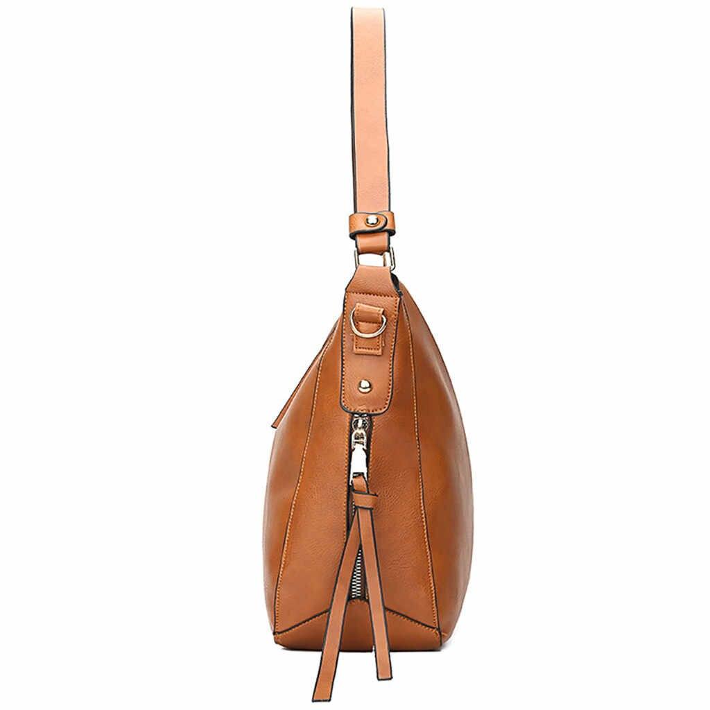 Sacs décontractés Simple pour les femmes 2019 mode Multi fermeture à glissière en cuir PU dames sac à main sac à bandoulière torebki damskie