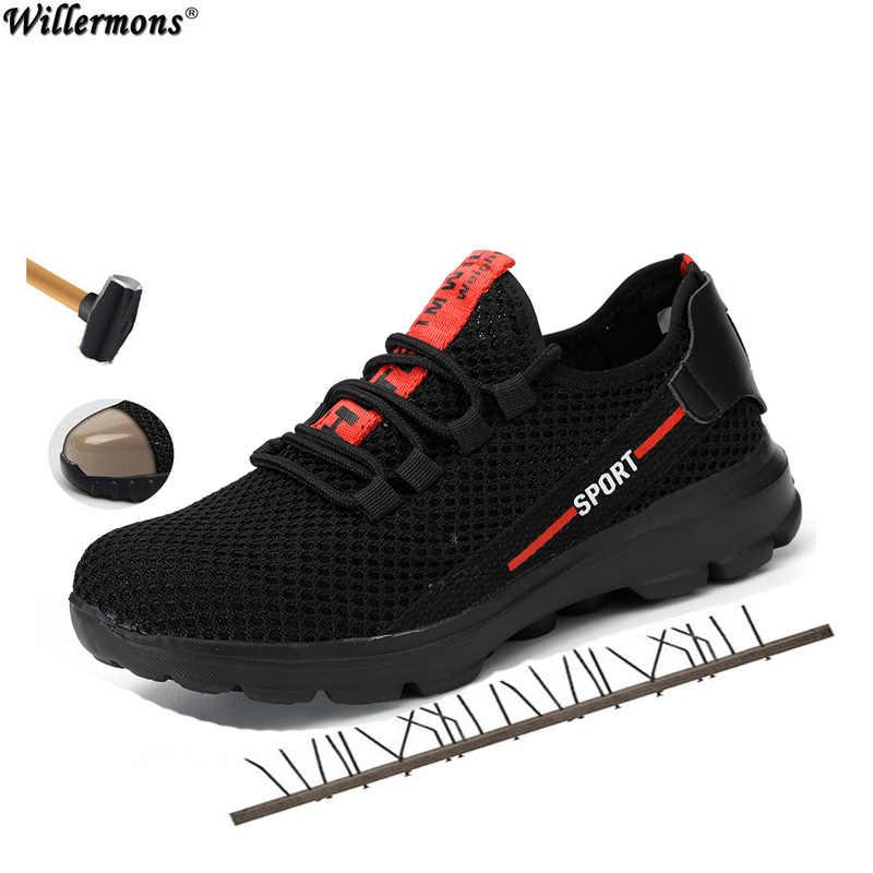 2019 Plus Size mannen Winter Stalen Neus Beschermende Werk Schoenen Korte Laarzen Mannen Staal Mid Zool Veiligheid Onverwoestbaar schoenen